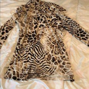 Alfani Tops - ALFANI Petite polyester animal print blouse